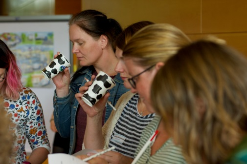Unsere Vortragsangebote beinhalten auch die verkostung von Milchprodukten.