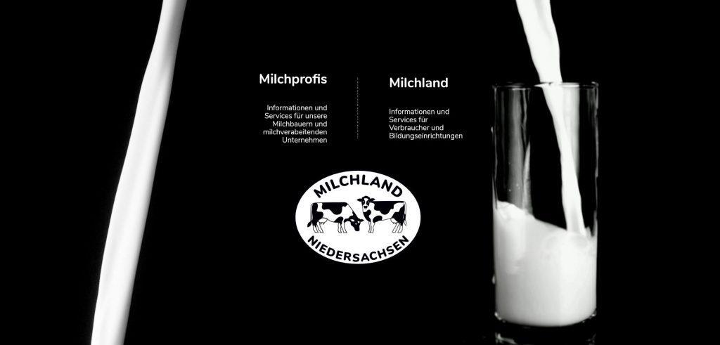 Milchland.de LVN Startseite für Milchprofis und Verbraucher