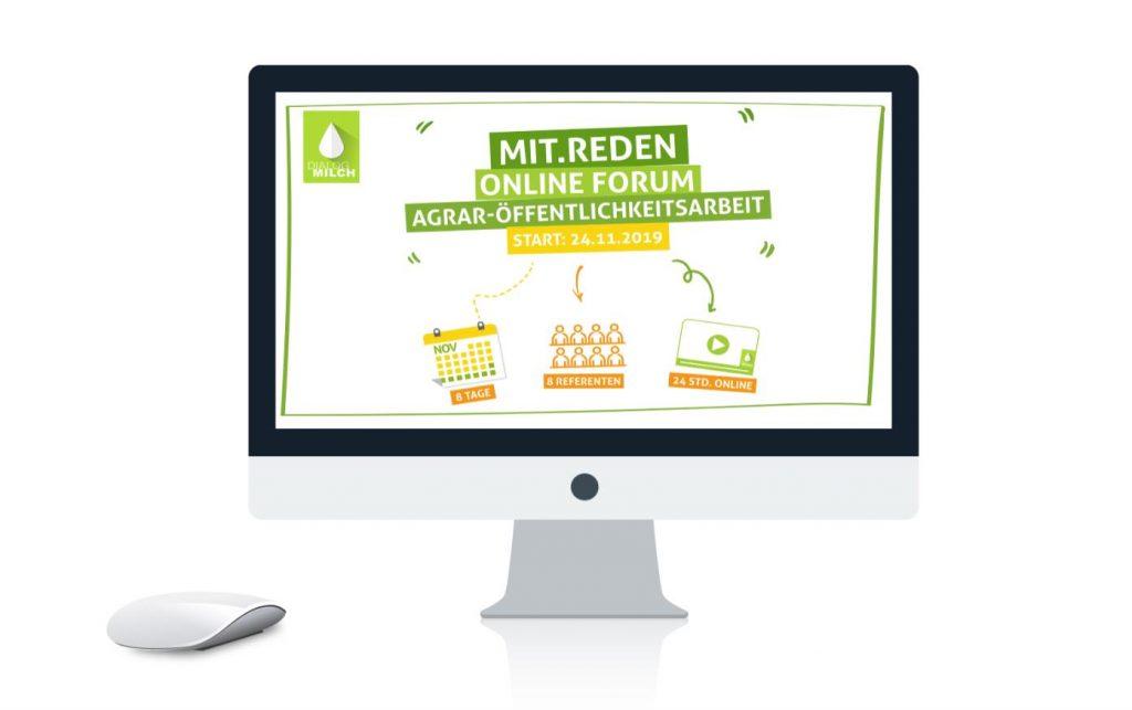Bildschirm und Maus mit Logo des Forums