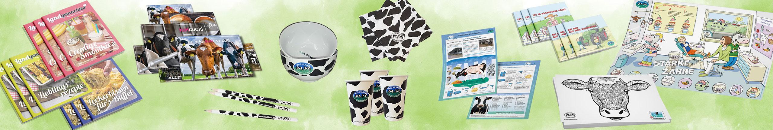 Shop - Produkte und Angebote für Milchverarberitende Unternehmen, Schulen und Kitas
