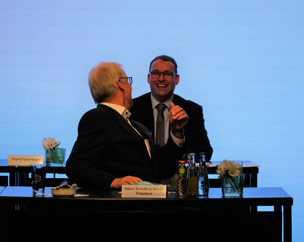 Frank Feuerriegel und Albert Schulte to Brinke auf der LVN-Mitgliederversammlung