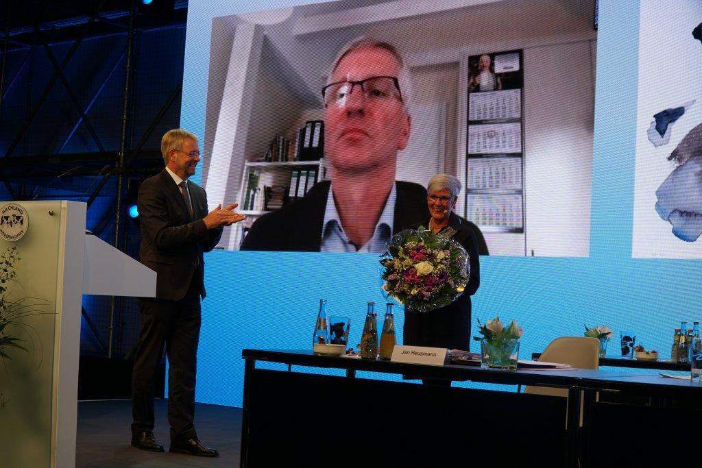 Jan Heusmann, Herbert Heyen und Kristine Kindler auf der LVN-Mitgliederversammlung