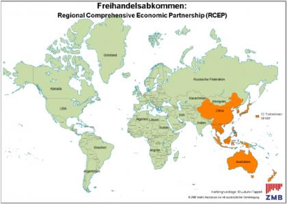 Länderübersicht Freihandelsabkommen RCEP