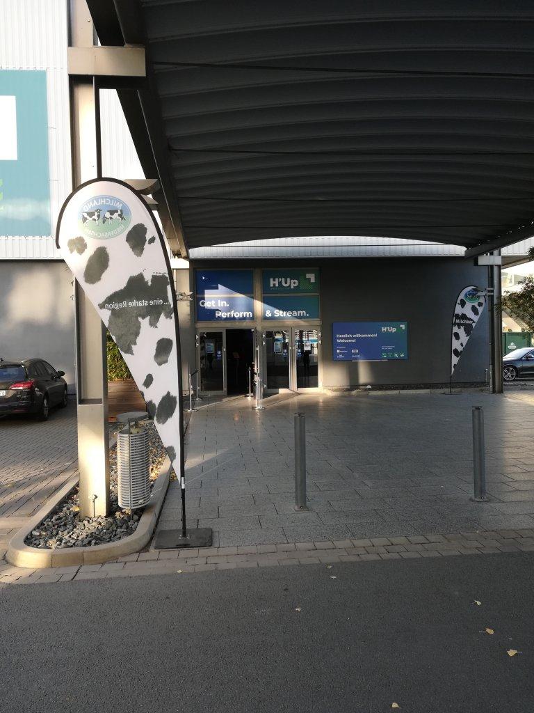 Eingang H'Up auf dem Messegelände in Hannover