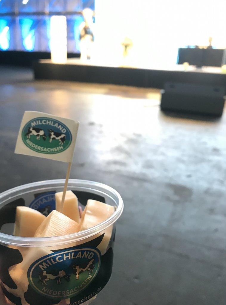 Käse in der Milchland-Box auf der LVN-Mitgliederversammlung