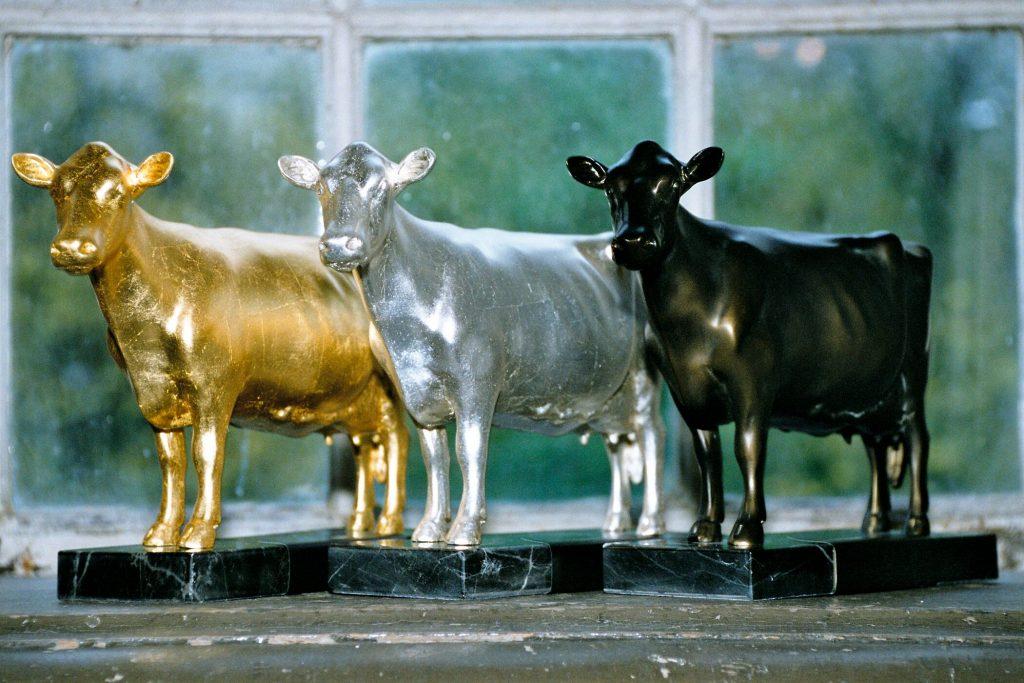 Goldene, silberne und bronzefarbene Olgas für den Milchlandpreis der LVN