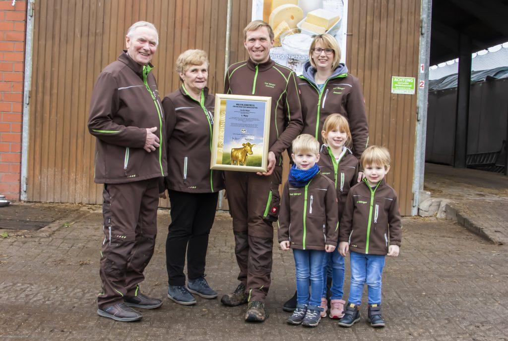Familie Börger 1. Platz Milchlandpreis 2020