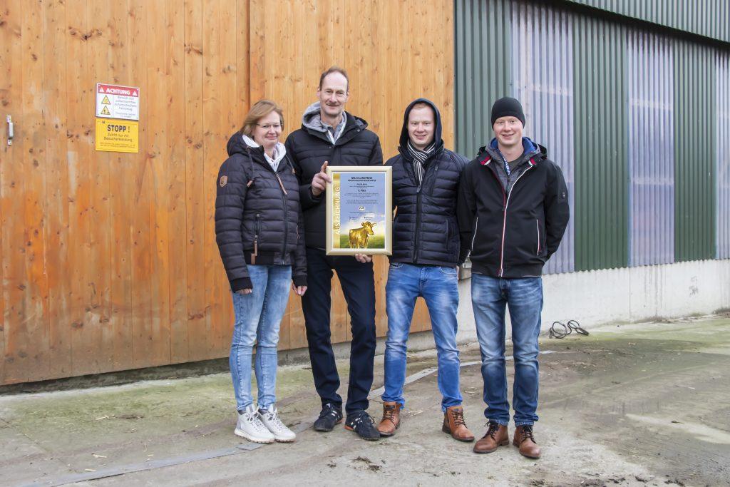 Familie Janke 5. Platz Milchlandpreis 2020