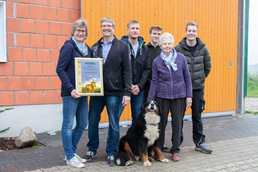 Familie Hasselhorn TOP 10 Milchlandpreis 2020