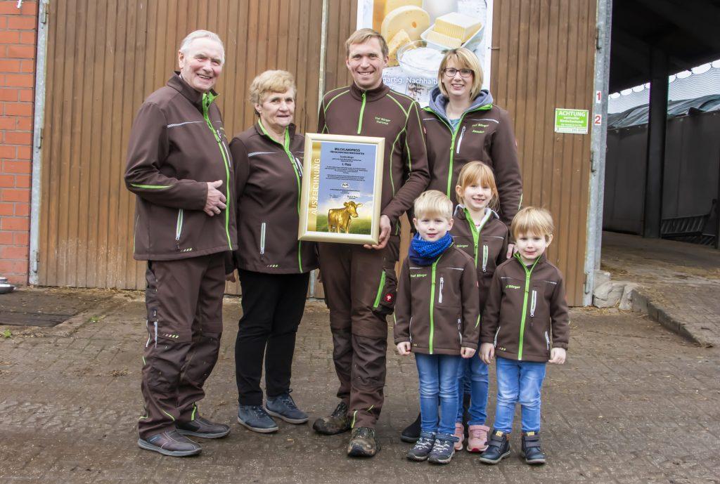 Milchlandpreis 2020 Platz 1 Familie Börger