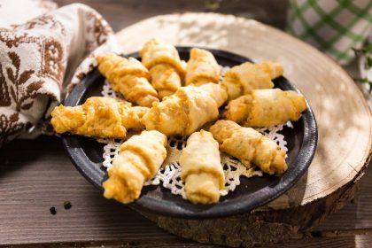 Serviervorschlag Mini-Käsehörnchen von Landgemachtes
