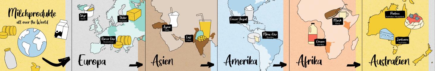 Grüne Woche digital Milchprodukte Weltkarte