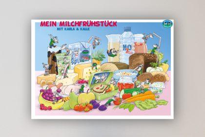 Poster Milchfrühstück