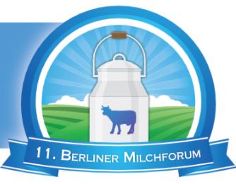 """Logo 11. Berliner Milchforum mit Thema """"Zwischen Marktrealität und Verbraucherwunsch"""""""