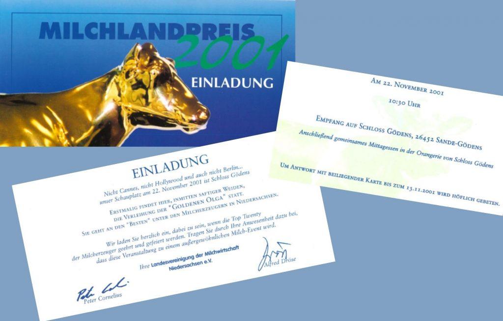 Einladung zum Milchlandpreis 2001