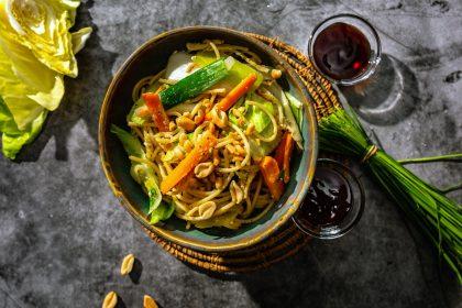 Serviervorschlag Thailändische Gemüsenudeln