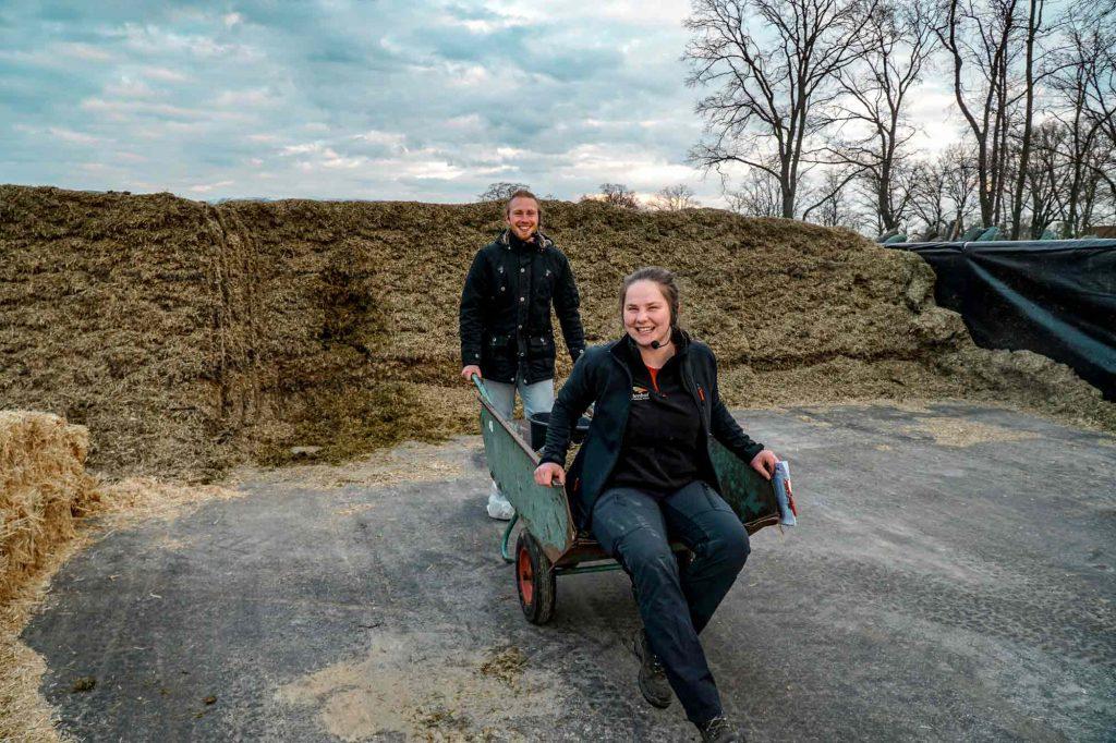 Louisa und Timo für Podcast StadtLandKuh on tour