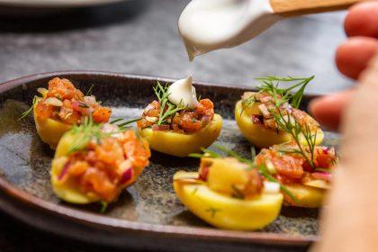 Serviervorschlag Kartoffeln mit Lachs