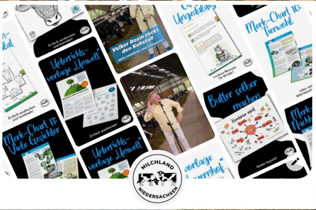 Pinterest Profil von Milchland Niedersachsen
