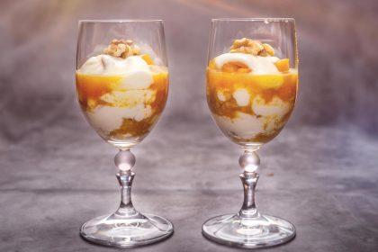 Serviervorschlag: Kürbis-Trifle