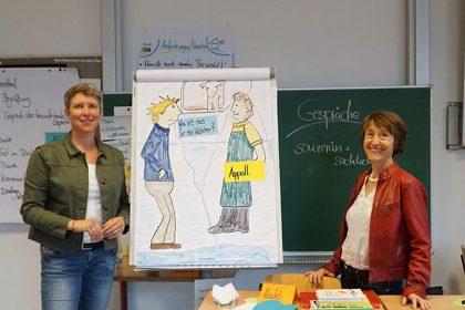 Tomma Hangen und Dr. Heike Kuhnert während DIALOG MILCH Schulung